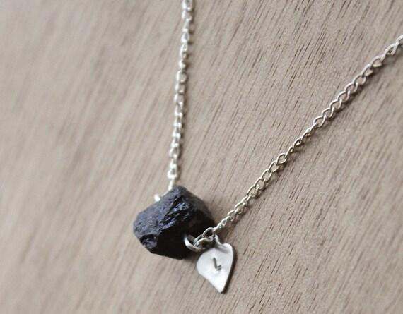 Genuine Raw Black Tourmaline Necklace Healing Crystal Natural