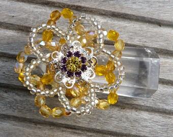 Yellow flower ring