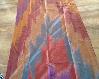 Rare pure silk designer collectors pashmina scarf originally from India collectible long design