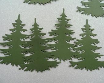 Die Cut Trees  Set of 8