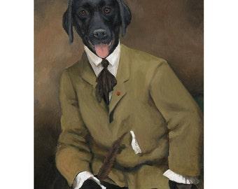 Labrador Retriever Prints, Sir Sargent, Black Lab, Labrador Gift