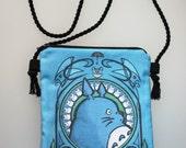 Crossbody bag, Hip bag Totoro Art Noveau 16x22cm/6x9 inches