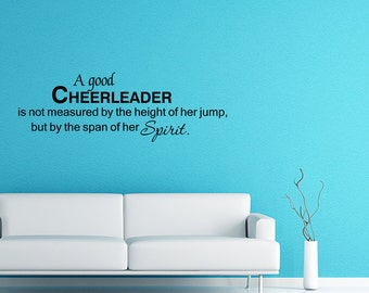 A Good Cheerleader Wall Decal Quote Wall Sticker Home Decor (V317)