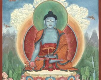 The Medicine Buddha:  Bhaishijyaguru Vaiduryaprabha