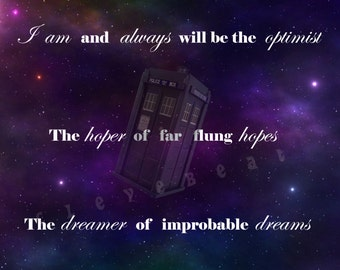 Doctor Who: Instant Download Art Print (Dreamer of Improbable Dreams)