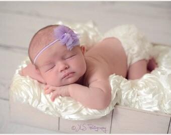 Lavender Baby Headband..Baby Girl Headband..Baby Headband..Headband..Toddler Headband..Infant Headband..Baby..Baby Girl