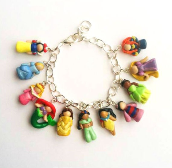 Disney Princess Inspired Polymer Clay Charm By Awishuponacharm