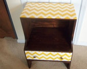 Chevron Painted End Table