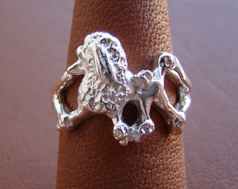 Sterling Silver Poodle Moving Study Ring