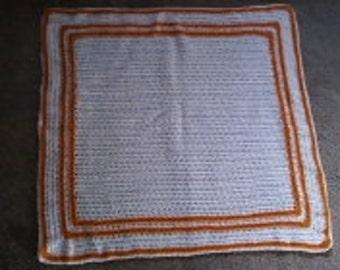 Crochet afghan  Stroller Blanket, Bassinet Blanket, Baby Nursery Blanket  lot  87