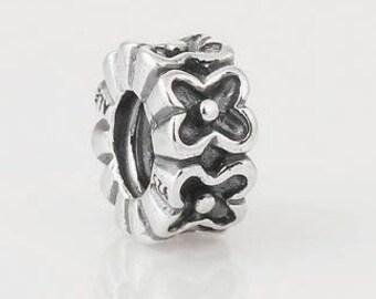 FLOWER SPACER .925 Sterling Silver European Charm Bead