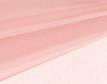 Dusty Pink Organza Fabric by the Yard, Wedding Decoration Organza Fabric, Sheer Fabric - Style 1901