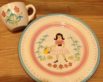 Stangl Kiddieware Mary Quite Contrary plate and cup