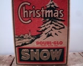 SALE Vintage Red Green Box Doubl-Glo Artificial Christmas Snow