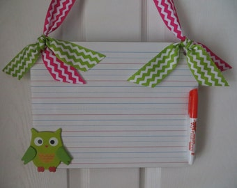 OWL..Dry Erase Board...Gift for kids/teacher