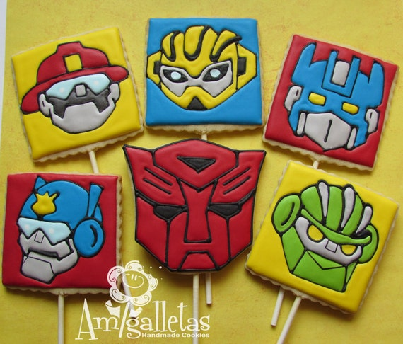 Transformers cookies rescue bots by amigalletas on etsy