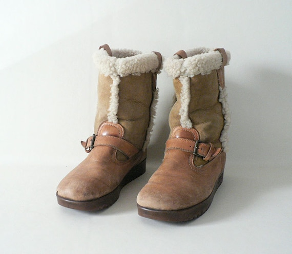 s leather winter shearling boots size 9 us