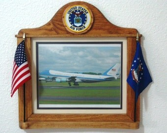 Custom Crafted AIR FORCE Picture  FRAMES