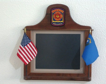 CUSTOM CRAFTD PICTURE Frames for the Fire Deptartments
