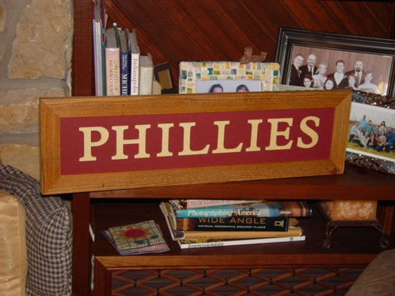 Personalized Man Cave Signs Free Shipping : Free shipping phillies large man cave custom lettered solid