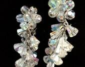 Fabulous Vintage Crystal Earrings - Wedding