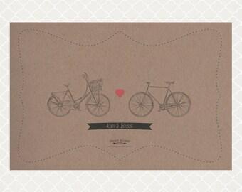 Vintage Bike Paper Placemats