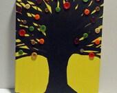 Button Art , Tree Paintings , Button Tree , Sewing Decor , Folk Art , Primitive Decor , Tree Artwork , Button Painting , Rustic Art