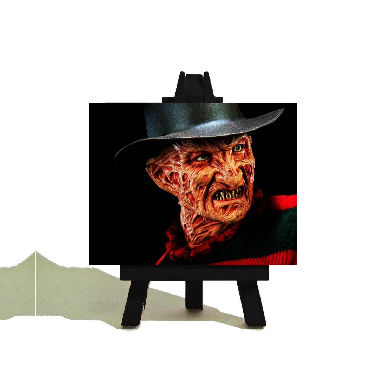 FREDDY KRUEGER Halloween Awesome Miniature Triple Canvas