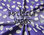 IMPERFECT Purple Cranky Cloud So Cheeky Custom Knit Fabric