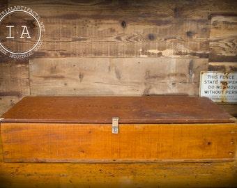Vintage Industrial Foot Locker Handmade Wood Case Outsider Folk Primitive Trunk
