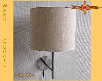 Wall lamp linen MELISSA natural linen light beige