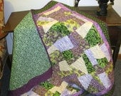 Purple and Green Crazy Quilt