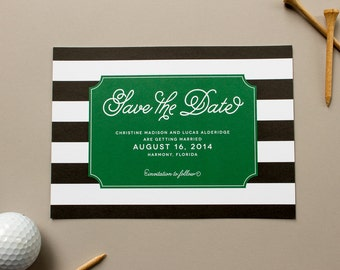 Preppy Save the Date, Black Stripes Save the Date Cards, Engagement Announcement, Wedding Save the Dates | Lively