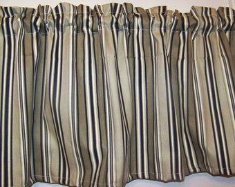 PAIR  Multi Color  Stripes Valances for the price of 1,  Valance, Curtains,  adults, 55 x 16 inches in diameter, great gift idea