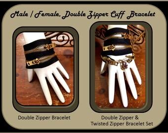 steam punk jewelry,steampunk,His Hers,Zipper Bracelet,Couples Bracelets,Best Friends Bracelets,Mother Daughter Jewelry, Birthstone Jewelry,
