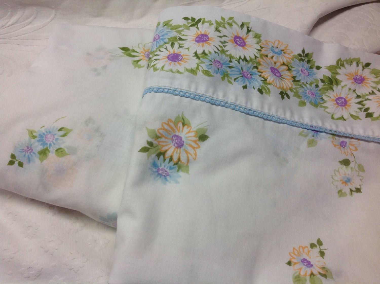 Vintage Floral Twin Size Bed Sheet Set By Morgan Jones