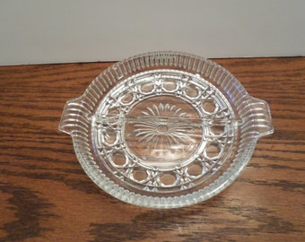 1970's Federal Glass Windsor Pattern Glass Divided Dish