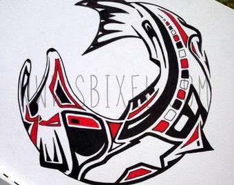 The Haida Trout - Fly Fishing Art