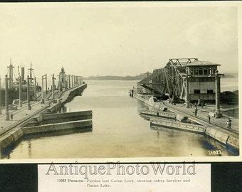Gatun Lake Panama Canal antique photo