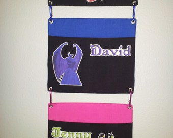 2 Pocket Fish Extender - DCL - Disney Cruise - Two Pockets - Interchangeable - Flexible  - FE - Custom - Any characters