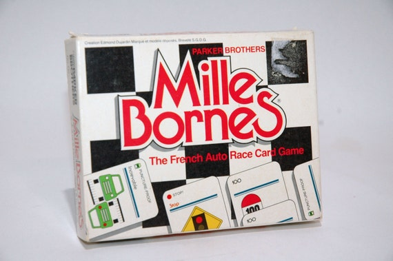 mille bornes french auto race card game from by thegamesarehere. Black Bedroom Furniture Sets. Home Design Ideas