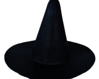 One 6 inches Black Felt Witch top hat!