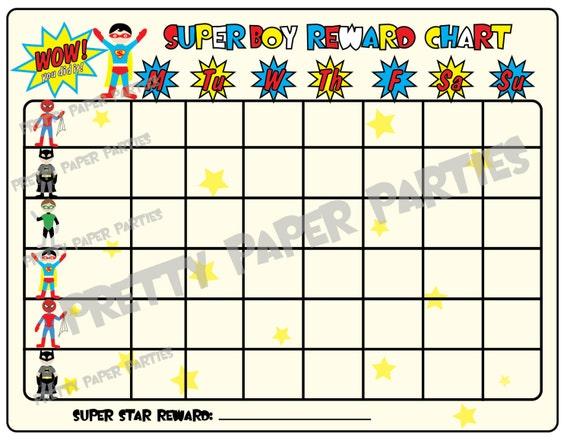 Monthly behavior chart template for teachers