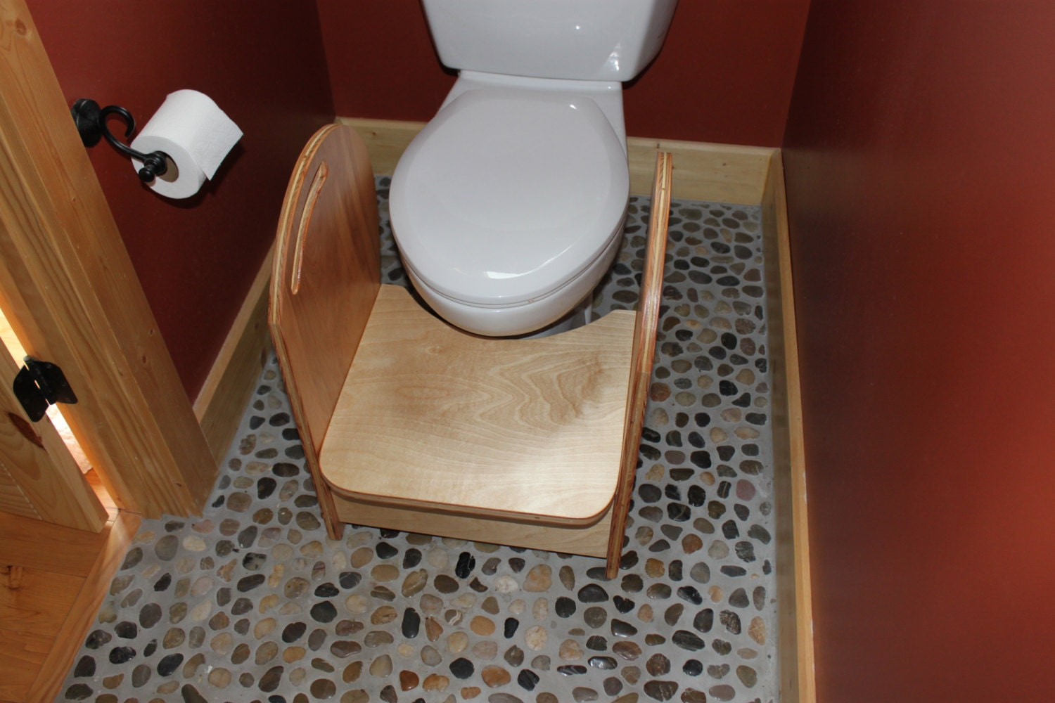 Potty Step Stool Natural Finishfree Shipping