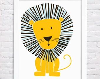 Lion Nursery Art Print