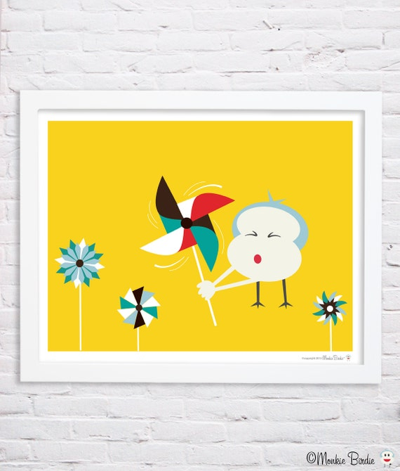 "Nursery art, nursery decor, pinwheel nursery, kids room decor, nursery wall art,pinwheels, 11""x14"" in. print- Pinwheels"