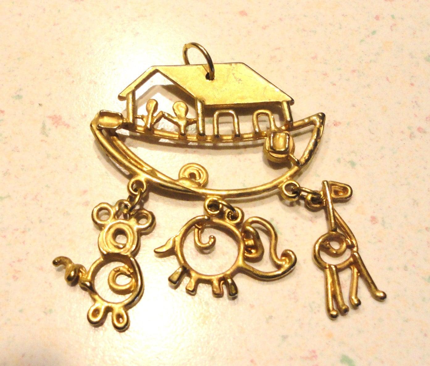 Gold Tone Pendant Lighting : Noah s ark gold tone pendant