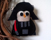 Star Wars Darth Vader Owl Ornament / Star Wars Christmas Ornament / Star Wars Baby / Owl Gifts