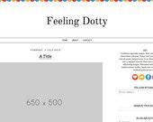 Feeling Dotty - Simple Blogger Theme/Template