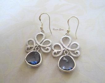 Purple Earrings, Bridesmaid Gifts